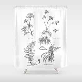 Herbarium 01 Shower Curtain
