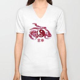 Yi Quan - Red motive Unisex V-Neck
