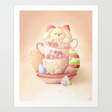 Teacup Bunny Art Print