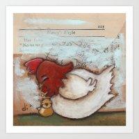 Cuddle Time - by Diane Duda Art Print