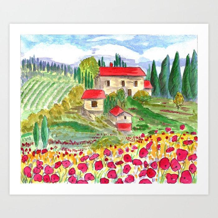 Tuscan Art Print