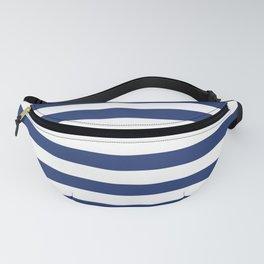 Horizontal Navy Stripes Pattern Fanny Pack
