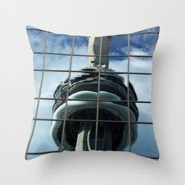 CN Tower Reflection Throw Pillow