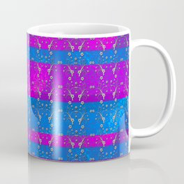 Foil Flower in Pink and Blue Coffee Mug