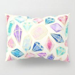 Watercolor Gems Intense Pillow Sham