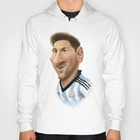 messi Hoodies featuring Messi - Argentina by Sant Toscanni