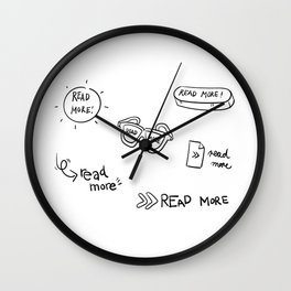 Read And Learn More Wall Clock