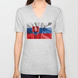 Slovakia Flag Unisex V-Neck
