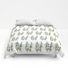 Eucalyptus (watercolor finger painting) Comforters