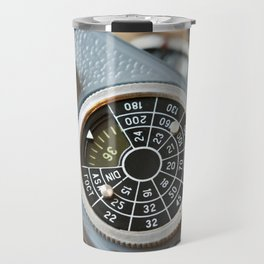 Wheel to set control sensitivity retro camera Travel Mug