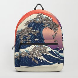 The Great Wave of Sloth Backpack