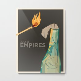 Empires Molotov Cocktail Print - ORIGINAL TEXT Metal Print