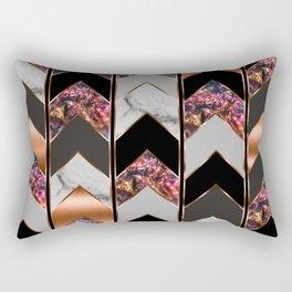 Chevron Peacock Rectangular Pillow