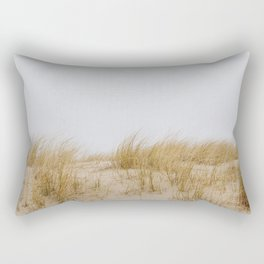 Photo of waving sea grass in the dunes, on the Dutch Wadden Island Texel, in the world heritage of the Waddensea | Fine Art Travel Photography | Rectangular Pillow