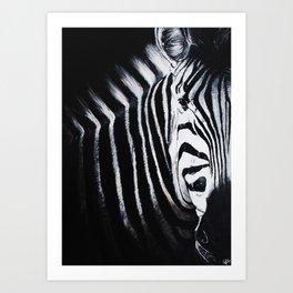 Le Zèbre Art Print