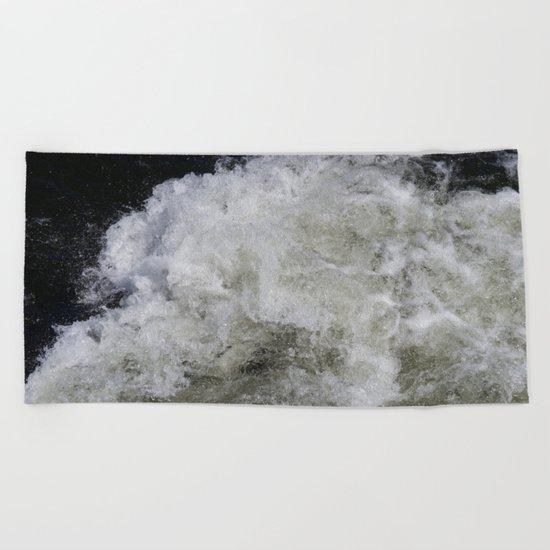 Rushing Water Beach Towel