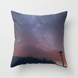 Violet Stars Throw Pillow