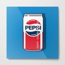 Pepsi - Classic can Metal Print