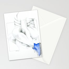 NUDEGRAFIA - 56  the girl with blue tennis shoes Stationery Cards
