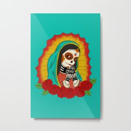 Virgin de Guadalupe Sugar Skull Metal Print