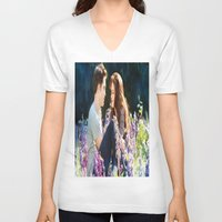 saga V-neck T-shirts featuring Twilight saga by Duitk