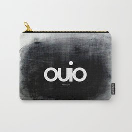 ouio_B_white on black Carry-All Pouch