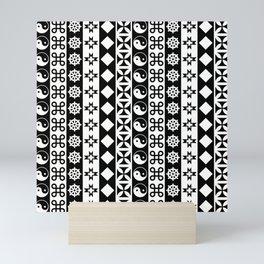 PATTERNED STRIPE Mini Art Print