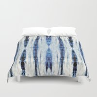 nori Duvet Covers featuring Nori Blue by Nina May Designs