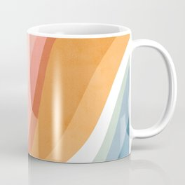 Rainbow Waves Pattern Coffee Mug