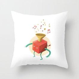 Music box Throw Pillow