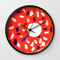 doughnut Wall Clocks featuring Doughnut by Myles Hunt