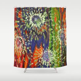 Induced Cosmic Revelations (Four Dreams, In Mutating Cycle) Shower Curtain