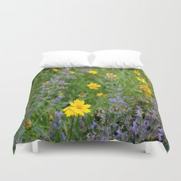 Wildflowers , Coreopsis and Tickseed Duvet Cover