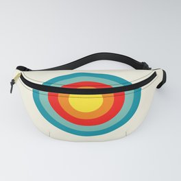 Colored Retro Circle 04 Fanny Pack