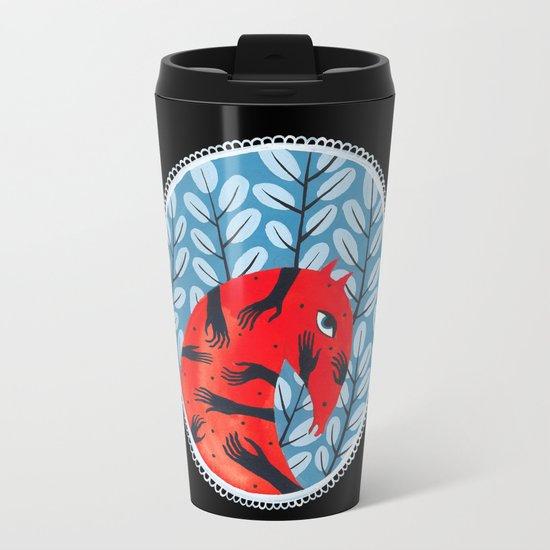 Smug red horse 2. Metal Travel Mug