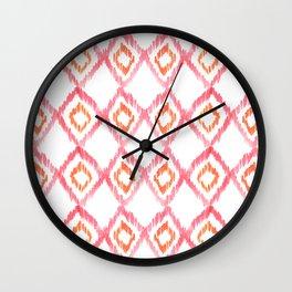 Fiery Coral Wall Clock