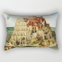 The Tower of Babel by Pieter Bruegel the Elder, 1563 Rectangular Pillow