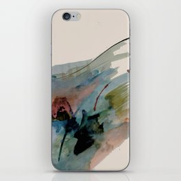 Begin again [2]: an abstract mixed media piece in a variety of colors iPhone Skin