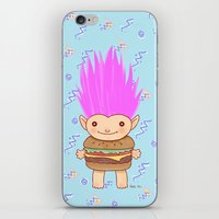 hamburger iPhone & iPod Skins featuring  Hamburger Troll by Noel ILL