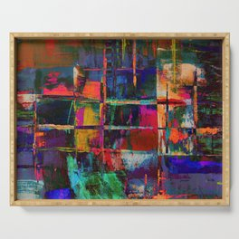 Canvas Abstract Deux Serving Tray