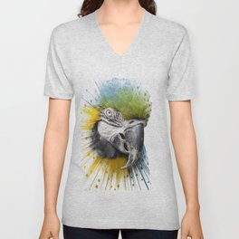 parrot bird star burst Unisex V-Neck