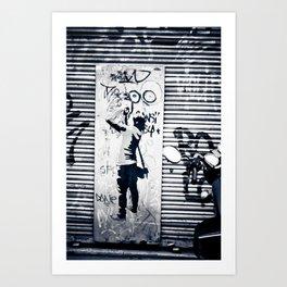 Graffiti, look here! Art Print