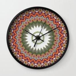 New Color Pyramidal Mandala 32 Wall Clock
