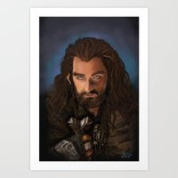 thorin Art Prints featuring Thorin by Arkady