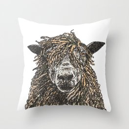 Cotswold Sheep Throw Pillow