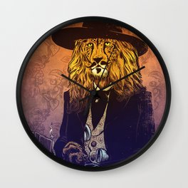 Low down, no good, Lion Cheetah Wall Clock