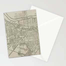 Vintage Map of Augusta GA (1913) Stationery Cards