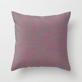 Shaping Up (Color) Throw Pillow