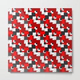 abstract geometric squares Metal Print