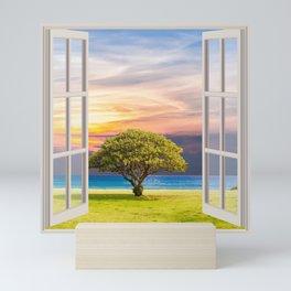 Seashore View   OPEN WINDOW ART Mini Art Print